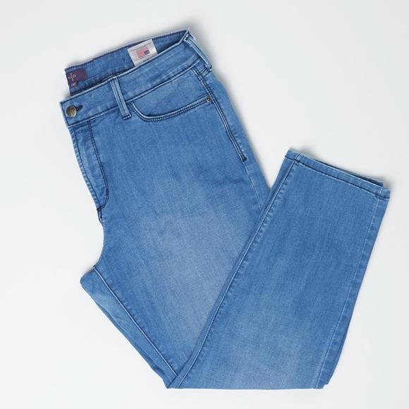 NYDJ Denim - NYDJ Petite Blue Lift Tuck Technology Ankle Jeans